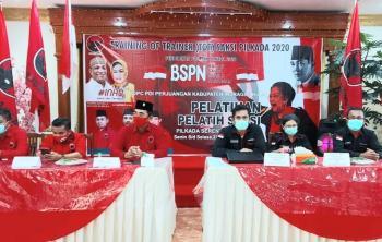 Kawal Suara, BSPN PDIP Riau ToT Ratusan Pelatih Saksi