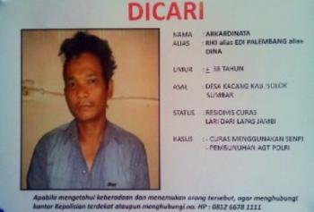 Buntuti Jejak, Polisi Menduga Edi Palembang Kabur Keluar Kota