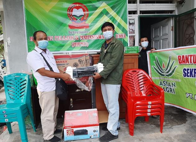 Dukung Potensi Pelajar & Mahasiswa Kecamatan Ukui, Asian Agri Salurkan CSR