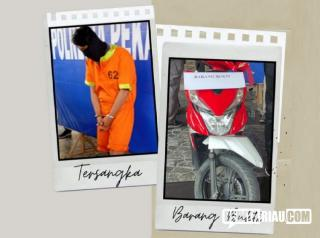 Polisi Tembak Kaki dan Lutut Begal Motor di Pekanbaru