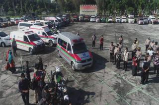 220 Personel Polda Kawal Penjemputan Pasien Isoman