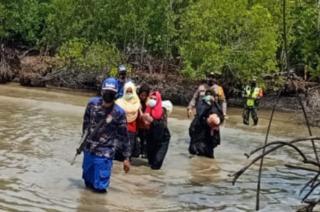 Empat Perempuan Asal Rohingya Diselamatkan Satpolairud