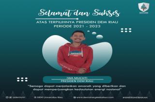 Iwa Muchti Terpilih jadi Presiden DEM Riau