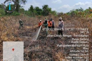 KPBD Sebut Ada Tantangan Extrim Pemadaman Karhutla di Inhu Riau