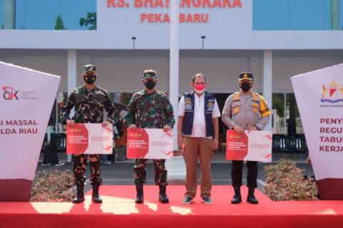 Polda Terima 20,5 Ton Liquid Oksigen Bantu Sejumlah RS di Pekanbaru