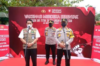 Polda Riau Salurkan 9000 Vaksin di Tiga Perguruan Tinggi