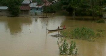 Ratusan Rumah Warga di Sekitar Kampar Kiri Terendam Banjir